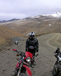 Honda XL Honda, tour to Everest Base camp,Motorbiking tour in Tibet, Tibet Motorbiking tour, motorbike tour in Tibet,on the way to Lhasa a great view from pass